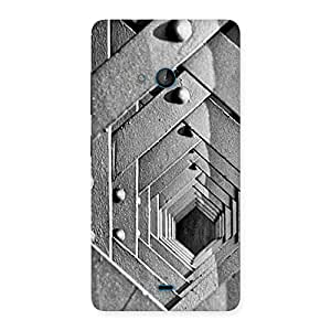 Ajay Enterprises Powerful Cage Hexa Back Case Cover for Lumia 540