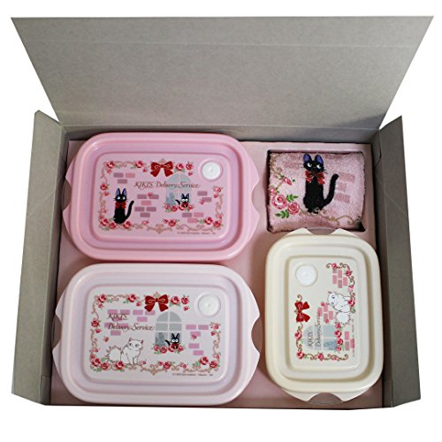 Studio GHIBLI Kiki's Delivery Service Pastic Container Lunch Box Bento GIFT SET ( can use in a microwave oven ) Made In Japan no..30 (Kiki Delivery Service Music Box compare prices)