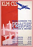 CZECH c1937 Vintage KLM London to Prague in 6 hours 250gsm ART CARD Gloss A3 Reproduction Poster