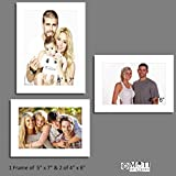 "3 Pc White Photo Frame Wall Collage, 1Pc 5"" X 7"", 2Pc 4"" X 6"""