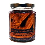 Hickory Smoked Bacon Wood Wick Candle, 8 oz Super Scented Natural Wax Candle