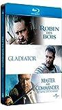 echange, troc Coffret Russell Crowe Robin des Bois / Gladiator / Master and Commander (boîtier métal) [Blu-ray]