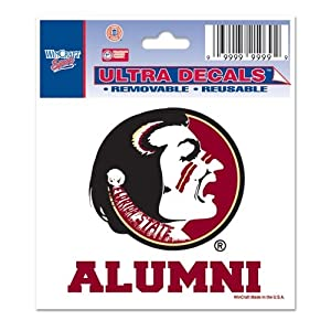 Buy Florida State Seminoles Official NCAA 4.5x6 Car Window Cling Decal by Wincraft by WinCraft