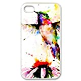 Vcapk Beautiful Hummingbird Flying Around Brilliant Flowers iPhone 4,4S Hard Plastic Phone Case