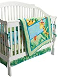 Fisher-Price Rainforest Jungle Stripe 4 Piece Crib Set