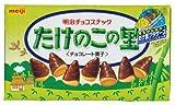 Meiji Takenoko No Sato Chocolate Flavor Bamboo Shoot Shaped Cookie Snack (Japanese Import) [Ver: C42V8]