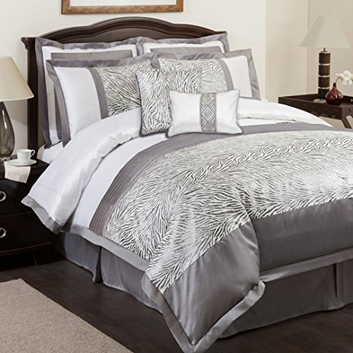 Gray Bedding Sets King 3602 front