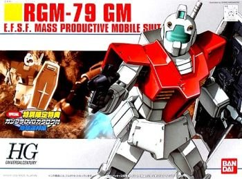 RGM-79 GM Gundam 1/144 Model Kit 20 HGUC (Special Edition DVD Included)