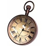 Authentic Models The Eye of Time Brass Regency Travel Clock