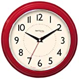 Acctim 21794 Clara Wall Clock, Red