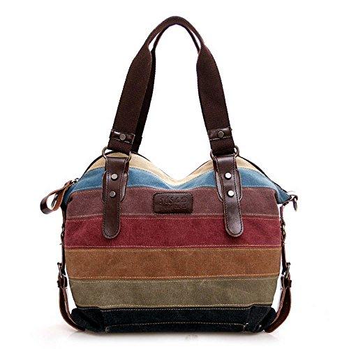 Multicolor Borsa Tela Delle Signore Borsetta Messenger Bag