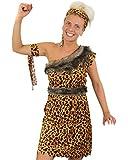 CAVE WOMAN FANCY DRESS COSTUME DELUXE LADIES CUTE LEOPARD PRINT DRESS BELT, HEADBAND, ARMBAND CAVEWOMAN UK 8-22