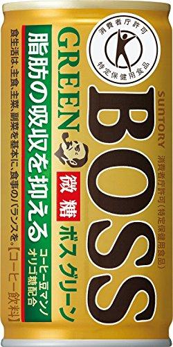 [トクホ]サントリー コーヒーボス グリーン 185g×30本