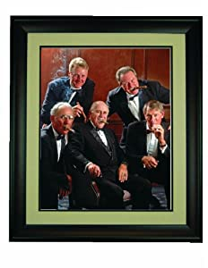 Boston Celtics Legends Smoking Cigars Framed 16x 20 Photo by Champion