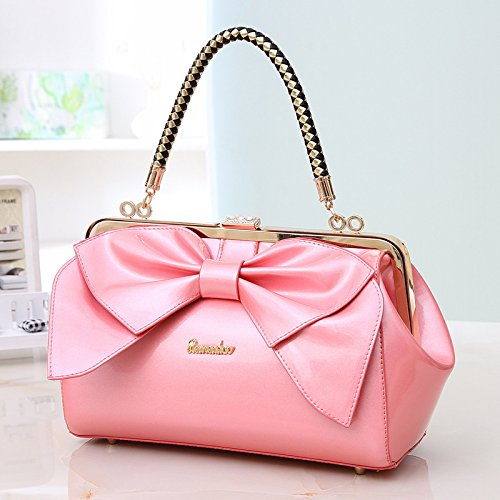 Korean women love the new portable handbags patent leather bow shoulder bag lady small bag wholesale trend dating