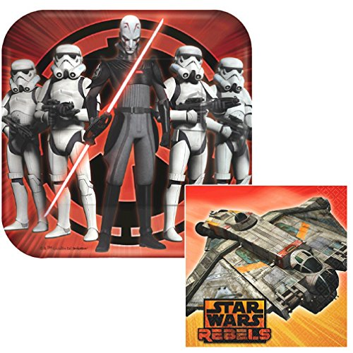 Star Wars Rebels Dessert Napkins & Plates Party Kit for 8