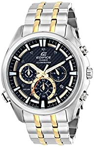 Casio Men's EFR-537SG-1AVCF Neon Illuminator Analog Display Quartz Two Tone Watch