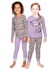 2 Pack Pure Cotton Leopard Print Pyjamas