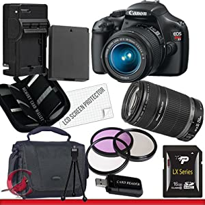 Canon EOS Rebel T3 Digital Camera and 18-55mm & 55-250 IS II Lens Kit Package 2