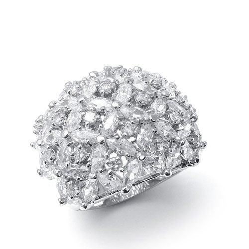 CZ Bridal Ring with Marquis Dome 9