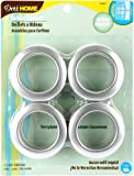 Dritz 1-9/16-Inch Inner Diameter Curtain Grommets, 8-Pack, Brushed Silver