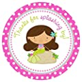 Mermaid Stickers in Polka Dot - Thanks for Splashing By - Party Favor Labels - Set of 30