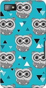 DailyObjects Geo Owl Case For BlackBerry Z10