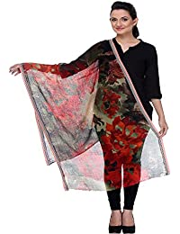 Elabore Luxury 100% Wool Printed Women's Stoles With Red/Green Floral Printed