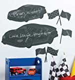 Wallies Peel and Stick Chalkboard Mural, Fast Cars