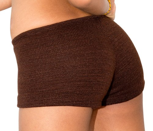 Peach Medium Truly Petite Women'S Dance,Yoga & Ballet Sexy Stretch Knit Low Rise Booty Shorts By Kd Dance New York Made In Usa