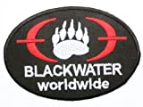 BLACKWATER Army Military USA Mercs Security Iron On Sew On Patch 3.5