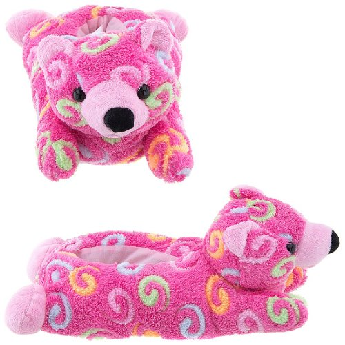 Image of Pink Bear Animal Slippers for Women (B009TH1LBW)