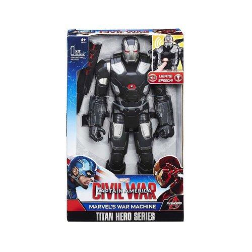 Marvel - Captain America: Civil War - Titan Hero Series - War Machine - Personaggio 30 Cm - Con Luci E Suoni - Versione Inglese