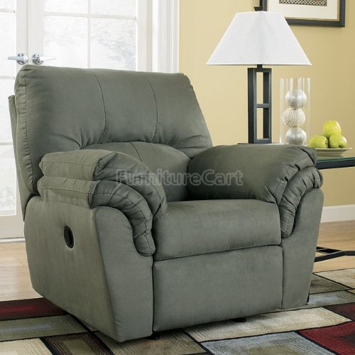 Furniture living room furniture sage recliner sage for Ashley durapella chaise