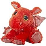 "Aurora World Dreamy Eyes Flame Red Dragon 10"" Plush"