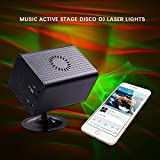 [New Version] LUCKLED Music Laser Light, Aurora effect Star Projector, Combining Full Color LED Lighting, Wireless Remote Control and Sound Active, DJ, Club Bar, Home Party and Wedding