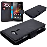 Sony Xperia SP C5303 C5302 M35H New 7 Colour Pu Leather Wallet Flip Phone Case Cover (Black Colour)
