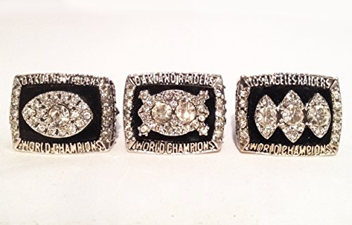 Oakland Raiders Super Bowl Rings - 3 Championship Replicas 1976 1980 1983 Collection Size 11 - Shipped from USA (Super Bowl Iii compare prices)