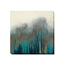 Teal Woods by Roberto Gonzales Premium Gallery Wrapped Canvas Giclee Art (Ready to Hang)