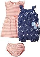 Carter's Baby Girls' 2 Piece Dress & Romper Set