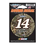 NASCAR Tony Stewart 77983015 Round Vinyl Decal, 3″ x 3″, Black