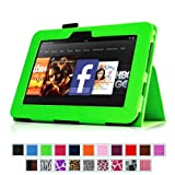 "Fintie (Green) Slim Fit Leather Case Cover Auto Sleep/Wake for Kindle Fire HD 7"" Tablet (will only fit Kindle Fire HD 7"") - 9 colors options"