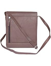 Leather Travel Unisex Premium Messenger Bag Brown