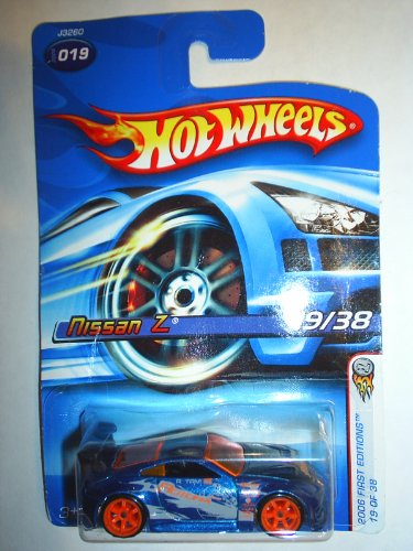 Mattel Hot Wheels 2006 First Editions 1:64 Scale Blue Nissan Z Die Cast Car #019