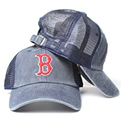 Boston Red Sox MLB American Needle Raglan Bones Soft Mesh Back Slouch Twill Cap by American Needle