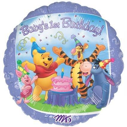 Imagen de 18 pulgadas de Winnie the Pooh & Friends 1 ª Globo de cumpleaños