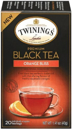 Twinings Orange Bliss, 20 count,  (Pack of 6)