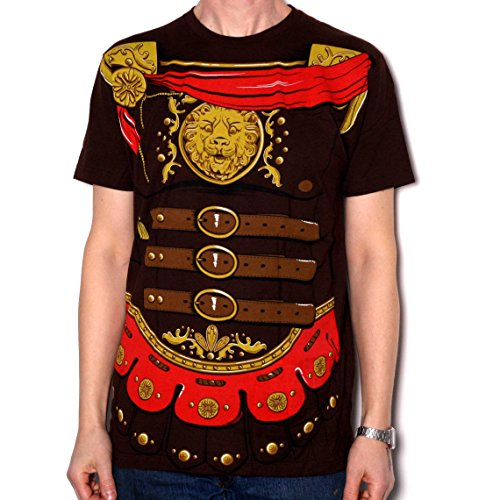 Gladiator T Shirt - Fully Screenprinted All-Over Costume T Shirt US Import