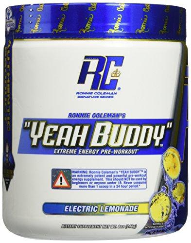 Ronnie Coleman Signature Series Yeah Buddy 30 Serve Pre-Workout Supplement, Electric Lemonade, 240 Gram (Coleman Focus compare prices)