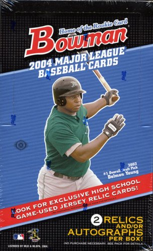 2004 Bowman Baseball Card Unopened Hobby Box